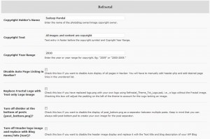 Refractal WordPress Theme Admin Panel